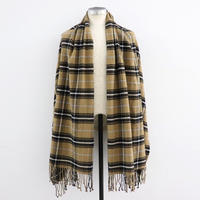 loomer ルーマー Pima Cotton Alpaca Flannel Stole Camel Check【PR19AW-ST006-2】