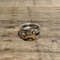 Hermès Vintage(エルメス ヴィンテージ)Sterling Silver & 18k Gold Ring【VHSS20_006】(N)