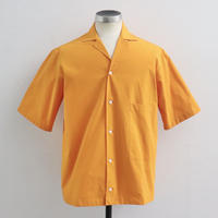 STUDIO NICHOLSON スタジオニコルソン COCKLE COTTON SHIRTING SHORT SLEEVE CAMP COLLAR SHIRT SAFFRON【SNM-020】(N)