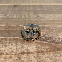 Hermès Vintage(エルメス ヴィンテージ)  Sterling Silver & 18k Gold Ring【SS19-2VH-6】(N)