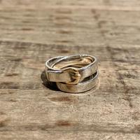 Hermès Vintage(エルメス ヴィンテージ)Sterling Silver & 18k Gold Ring【VHSS20_004】(N)