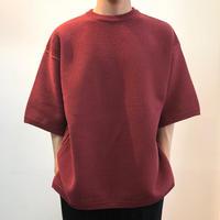 crepuscule クレプスキュール  Tuck Knit 1801-009 Red(N)