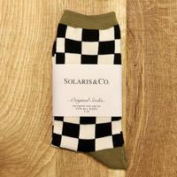SOLARIS&Co.(ソラリスアンドコー) SOCKS CHECKER【19AW02001】(N)