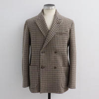 UNITUS(ユナイタス) FW19 Double Breasted Jacket (Wool) Beige Plaid Check  【UTSFW19-J09SS 】