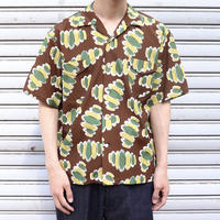 SOLARIS&Co.(ソラリスアンドコー) ATOMIC OPEN COLLAR SHIRT- SHORT SLEEVE Brown【S20SS-FR06】