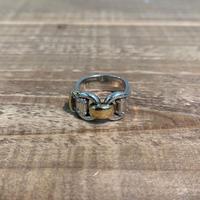 Hermès Vintage(エルメス ヴィンテージ) Sterling Silver & 18k Gold Ring【VH21】(N)