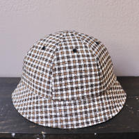 mfpen(エムエフペン)SS20 BELL HAT BROWN CHECK【S20-63】(N)