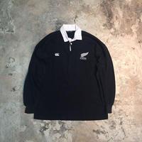 【PIGU HOUSE  VINTAGE】Canterbury of New Zealand All Blacks ラガーシャツ【No,B】