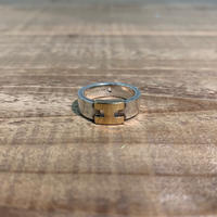 Hermès Vintage(エルメス ヴィンテージ) Sterling Silver & 18k Gold Ring 【VH05】(N)