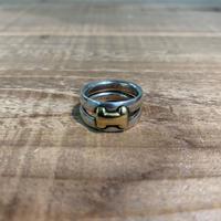 Hermès Vintage(エルメス ヴィンテージ) Sterling Silver & 18k Gold Ring 【VH06】(N)