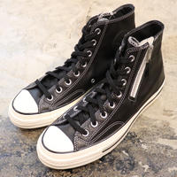 CONVERSE コンバース CHUCK TAYLOR ALL STAR '70-SIDE ZIP HI BLACK/EGRET/EGRET 166721C CT70(N)