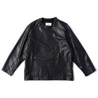 UNITUS(ユナイタス) Eco Leather Sweat Shirt Black【UTSFW21-S07】(N)