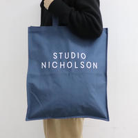 STUDIO NICHOLSON スタジオニコルソン COTTON CANVAS STANDARD TOTE DARK NAVY【SNW-217】(N)