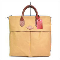 【SALE】LEON FLAM(レオンフラム)SAC 21H Waxed Canvas Heather Beige