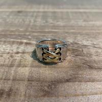 Hermès Vintage(エルメス ヴィンテージ) Sterling Silver & 18k Gold Ring【VH22】(N)
