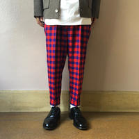 UNITUS(ユナイタス) FW18 2Tucks Pant Red Check【UTSFW18-P01】(N)