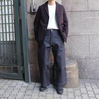 STUDIO NICHOLSON スタジオニコルソン SELVEDGE DENIM SUEDE-HEAD SLACK INDIGO【SNM-029】(N)