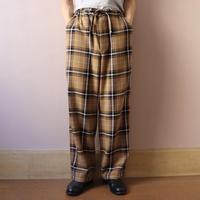 loomer ルーマー Pima Cotton Alpaca Pajama Pants Camel Check【PR19AW-PJ008-2】