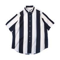 UNITUS(ユナイタス) Super Large Half Sleeve Shirt (Big Stripe) Ivory × Navy【UTSSS21-S05】(N)