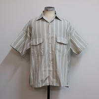 UNITUS(ユナイタス) SS19 Open Collar Big Shirt Beige Stripe /STUDY SHOWROOM STORE 別注カラー【UTSSS19-S08SS】(N)