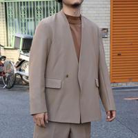 UNITUS(ユナイタス) Lapel Less Jacket  Beige【UTSFW20-J06】(N)