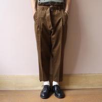 UNITUS(ユナイタス) FW19 Belted Peg-top Pant Khaki【UTSFW19-P06】(N)