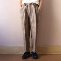 UNITUS(ユナイタス) FW19 Easy Dress Pant Beige Plaid Check【UTSFW19-P02SS】(N)