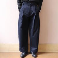STUDIO NICHOLSON スタジオニコルソン BEN PEACHED COTTON TWILL VOLUME PLEAT PANTS DARK NAVY【SNM-078】(N)