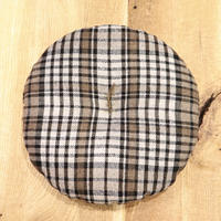 loomer ルーマー Shetland × Silk Check ZABUTON circle【PR19AW-ZB025-C】(N)