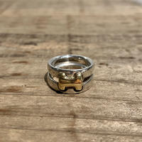 Hermès Vintage(エルメス ヴィンテージ)Sterling Silver & 18k Gold Ring【VHSS20_007】(N)