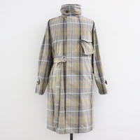 UNITUS(ユナイタス) SS20 Medical Gawn Coat Plaid Check Brown × Blue【UTSSS20-J02】(N)