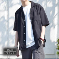 ドライストレッチオープンカラーシャツ  0343102-41(ブラック)