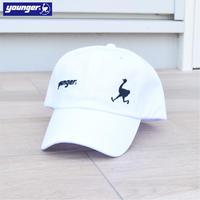 コットンツイル ロゴ刺繍入り ロータイプ CAP 9601004-20(ホワイト)