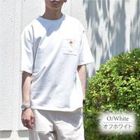 ワッペン付き USコットン クルーネック BIGシルエット Tシャツ 0403501-20(ホワイト)