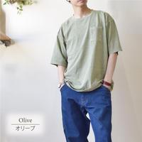 製品染めビッグ 半袖Tシャツ 0703706-27(オリーブ)