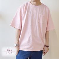 製品染めビッグ 半袖Tシャツ 0703706-13(ピンク)