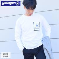 空紡糸 天竺 ビニール ポケット ロンT 9501707-10(ホワイト)