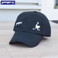 コットンツイル ロゴ刺繍入り ロータイプ CAP 9601004-41(ブラック)
