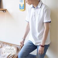 カットサッカー素材 1ポイント刺繍入り ポロシャツ 0403250-20(オフホワイト)