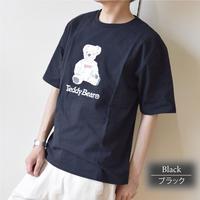 テディベア プリントTシャツ 0423703-41(ブラック)
