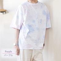 OILCAKE ムラ染めBIGTシャツ 0703708-C(パープル)