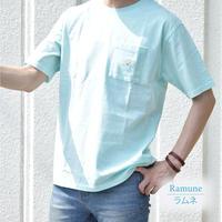 アイスキャンディー・カラー 天竺 ポケット付き Tシャツ 0403500-18(ラムネ)