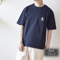 テディベア Teddy Bear 天竺 ポケット刺繍入り Tシャツ 0423702-41(ブラック)