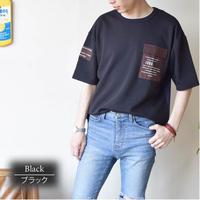 布帛ポケット付きクルーネックBIGT 0403302-41(ブラック)