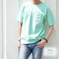 アイスキャンディー・カラー 天竺 ポケット付き Tシャツ 0403500-26(ミント)