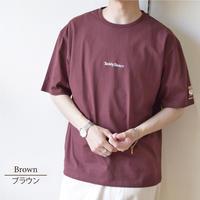 Teddy Bear テディベア ロゴ刺繍入り Tシャツ 0423704-32(ブラウン)