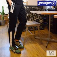 ジャージ 切替 テーパード パンツ 9501500-41(ブラック)