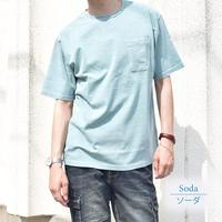 アイスキャンディー・カラー 天竺 ポケット付き Tシャツ 0403500-48(ソーダ)