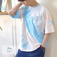 OILCAKE ムラ染めBIGTシャツ 0703708-B(ブルー)