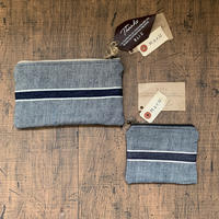 H.a.r.U made SELVEDGE POUCH SMALL